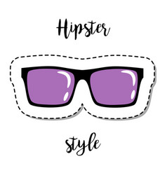 Fashion patch element hipster sunglasses vector