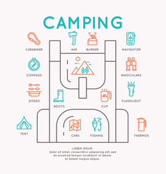camping infographics vector image