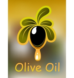 Olive oil poster or card design vector