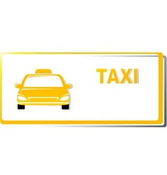 Yellow taxi business card vector