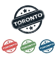 Round toronto city stamp set vector