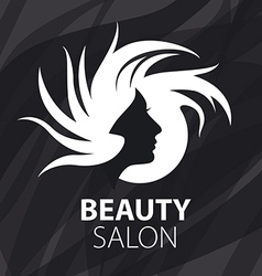Logo womans head for the beauty salon vector