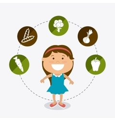 Kids nutrition design vector