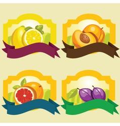 fruit frames vector image