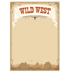 Wild west background for text vector image
