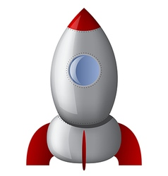 Cartoon stell rocket vector