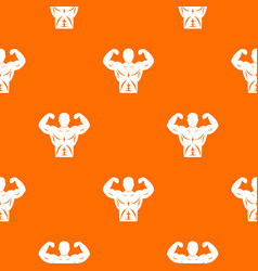athletic man torso pattern seamless vector image