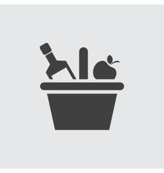 Champagne icon vector