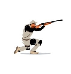 Clay shooting cartoon vector