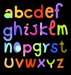 Color fonts vector
