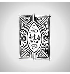 decorative line art frame template Elegant vector image