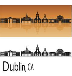 Dublin ca skyline vector