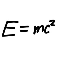 einstein energy formula scribble sketch vector image