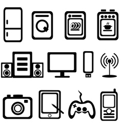 electric goods of household appliance icons set vector image vector image