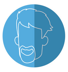 face man male bearded character image vector image vector image