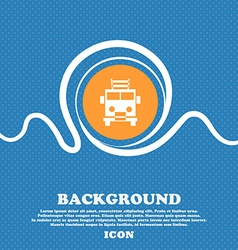 Fire engine icon sign blue and white abstract vector
