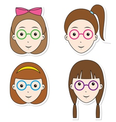 Girl hairstyle set vector