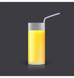 Glass of lemonade vector image vector image