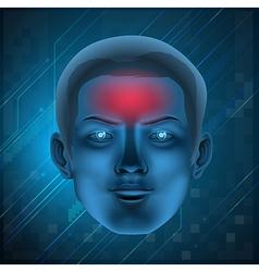 Headache concept vector