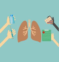 Healthcare concept - lungs vector