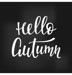 Hello autumn quotes typography vector