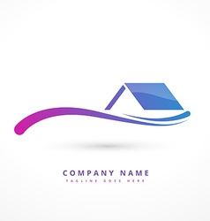 House or home company logo design vector