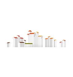Icon apartment building vector
