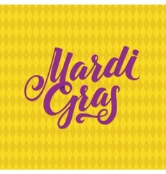Mardi gras logo calligraphic poster vector