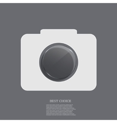 Modern camera icon with circle glass vector