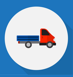 Of automobile symbol on truck vector