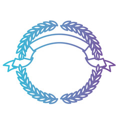 olive branches forming a circle with ribbon on top vector image