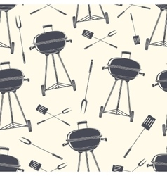 Retro BBQ grill seamless pattern vector image vector image