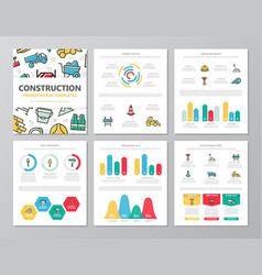 set of colored construction and repair elements vector image