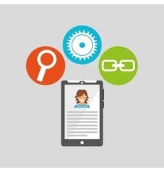 Smartph technology social media concept vector