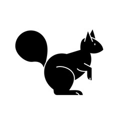 squirrel icon sign o vector image