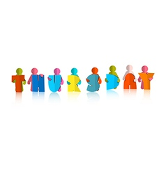 Thursday Colorful Title - Paper Cut People and vector image vector image