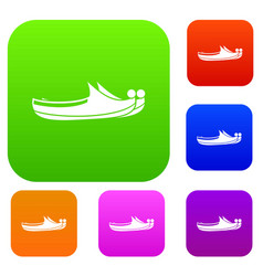Turkish shoes set color collection vector