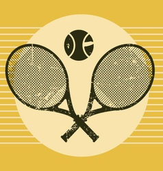 vintage tennis equipments vector image vector image
