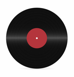 Vinyl record blank realistic vinyl disc mockup on vector