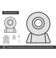 Web camera line icon vector image
