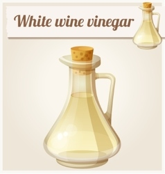 White wine vinegar Detailed Icon vector image