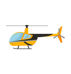 Yellow taxi helicopter air vector