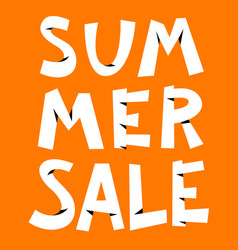Summer sale lettering cute composition seasonal vector
