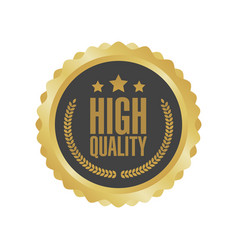 Guaranteed premium quality gold sign round label vector
