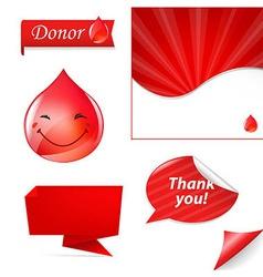 Blood Drop Set vector image
