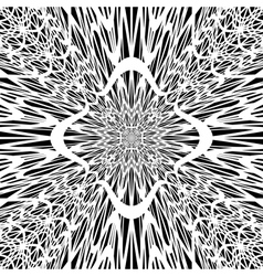 Monochrome abstract perspective background vector image