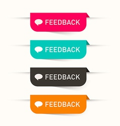 Feedback paper labels - stickers set - web icons vector