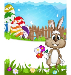 Happy easter nature background vector