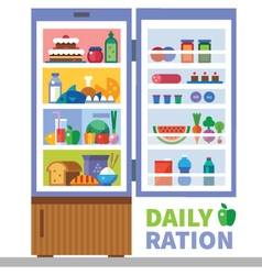 Daily ration vector