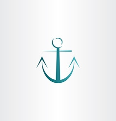 Stylized anchor icon design vector